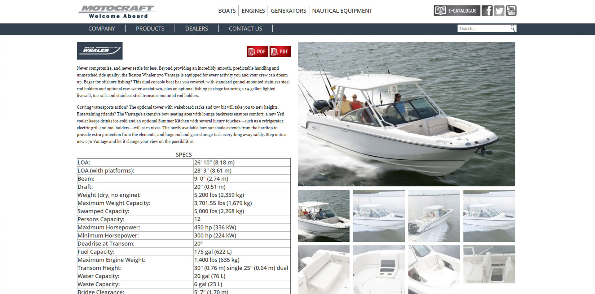 Product page - Boston Whaler