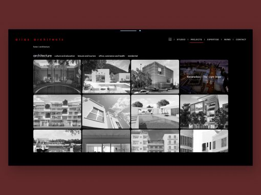 Alias architects site, 2018