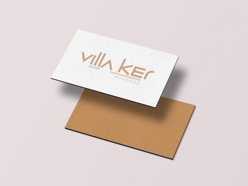 Villa KER; branding, 2019